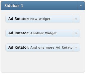 Sidebar with Ad Rotator widgets
